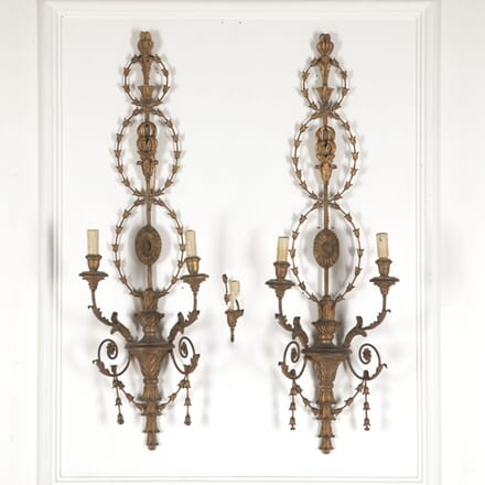 Pair of Large Italian 19th Century Wall Lights LW6013305