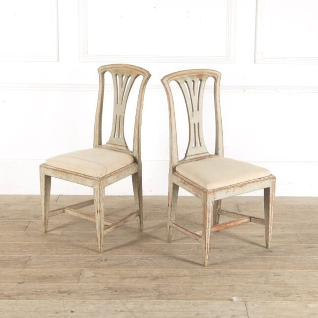 Pair of Late 18th Century Gustavian Side Chairs CH9013204