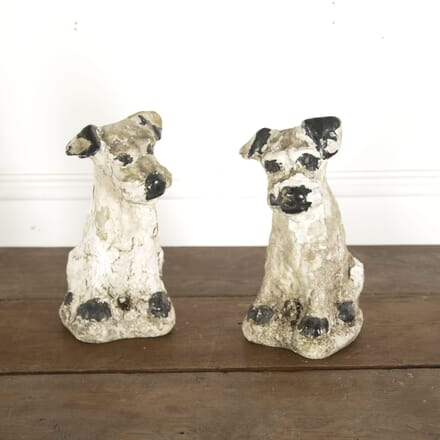Pair of Mid 20th Century Concrete Dogs DA7712352