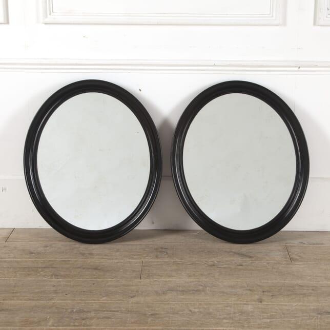 Pair of Oval Napoleon III Mirrors MI1512982