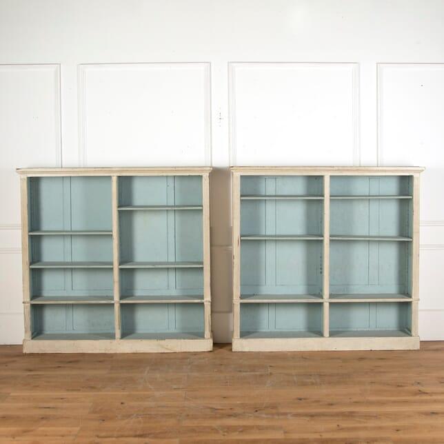 Pair of Painted Bookshelves BK9011648