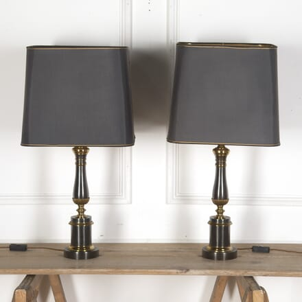 Pair of Regency Style Column Lamps DA7313385