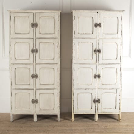 Pair of Rustic French Painted Cupboards CU4812740
