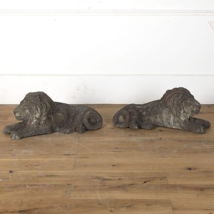 Pair of Stone Lions DA3513237