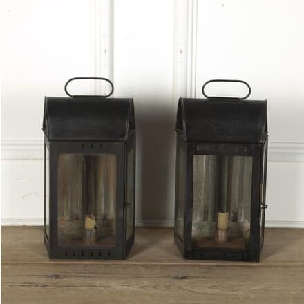 Pair of Tin Wall Lanterns LL3612463