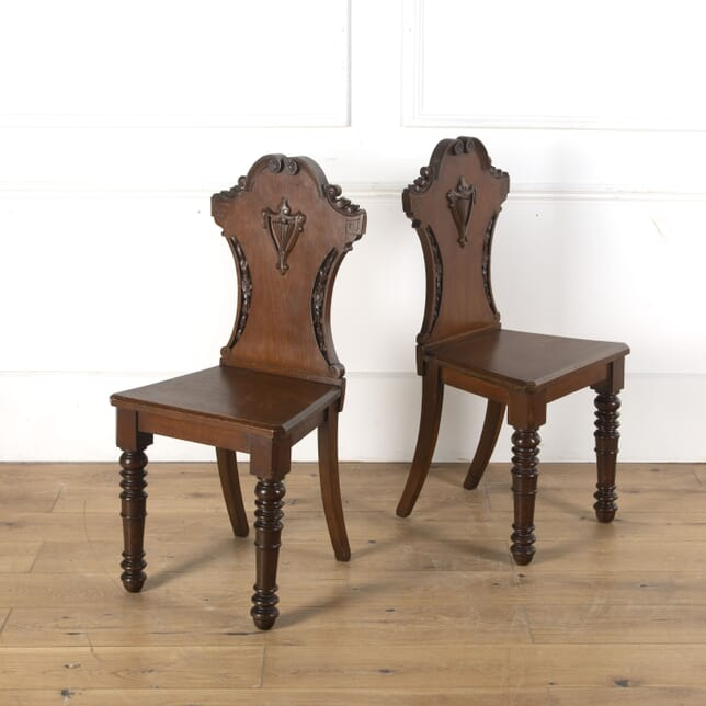 Pair of Victorian Hall Chairs CH7612796