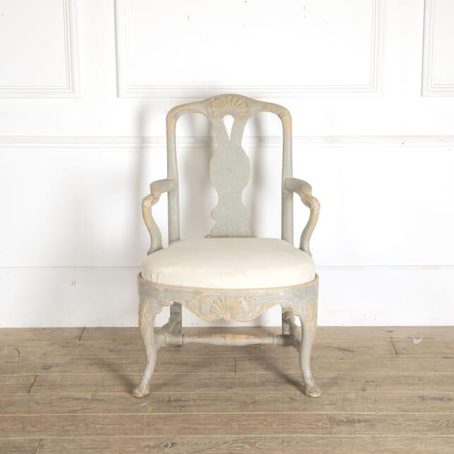 Period Swedish Rococo Armchair CH6012845