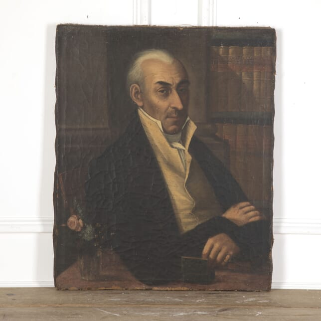Portrait of a Man with Elaborate Stock WD5512520