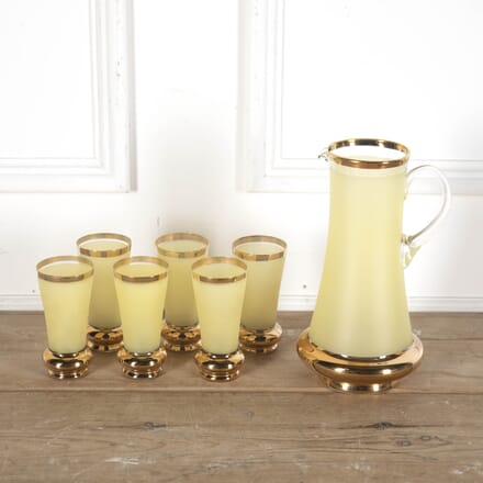 Primrose Frosted and Gold Plated Glass Cocktail Jug Set DA5812410