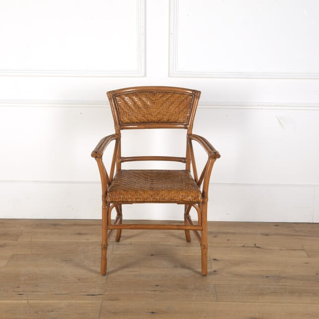 Rattan and Bamboo Armchair CH5913167