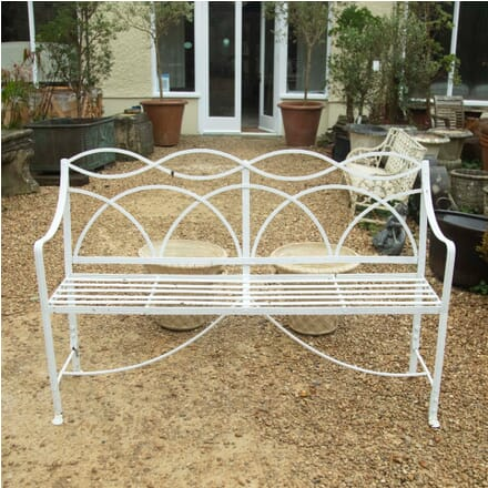 Regency Wrought Iron Garden Seat GA3311151