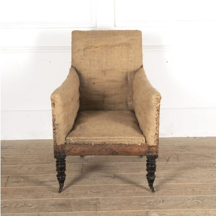 Scottish Regency Upholstered Library Armchair CH0913447
