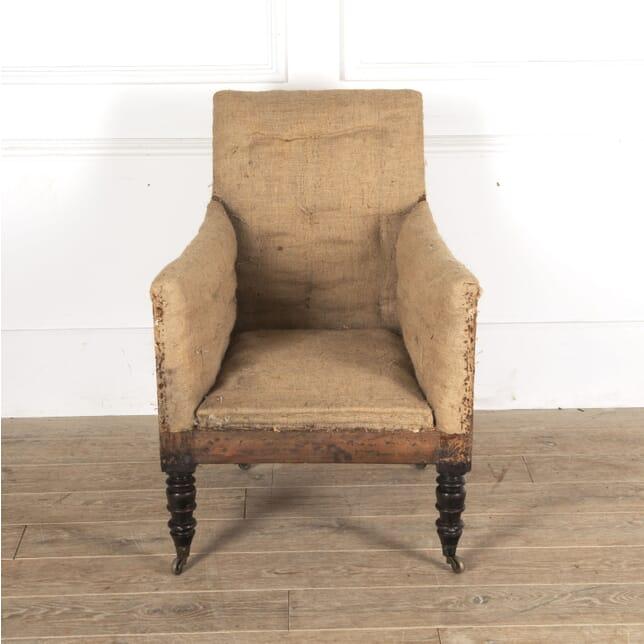 Scottish Regency Upholstered Library Armchair CH0913447