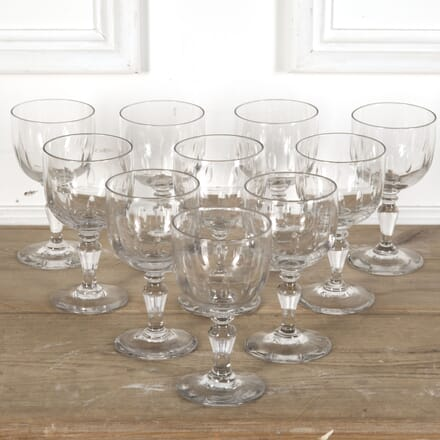 Set of 10 French Thumbprint Wine Goblets DA5812405
