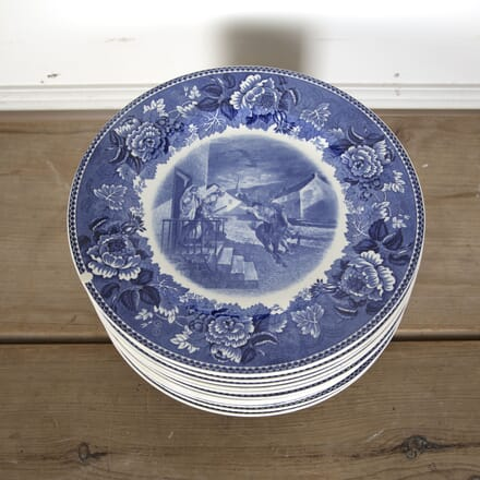 Set of 14 English Wedgewood Blue and White China Plates DA3713114