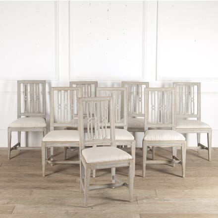 Set of 8 Gustavian Dining Chairs CD9013203
