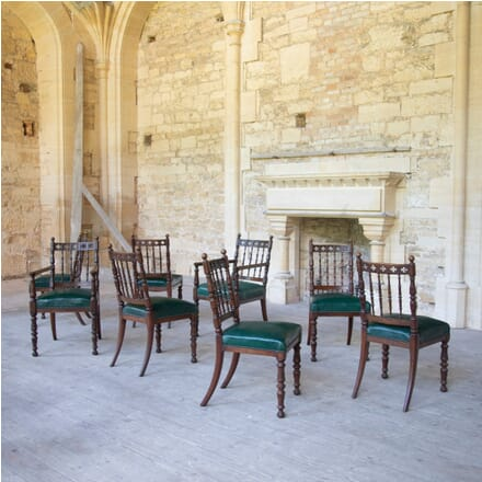 Set of Eight Oak Dining Chairs CD105124