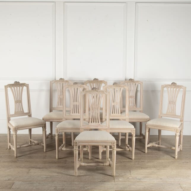 Set of Eight Swedish Early 20th Century Dining Chairs CD4412228