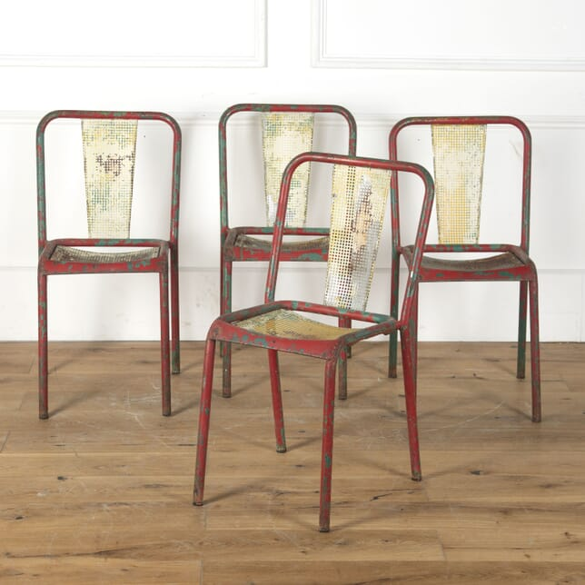 Set of Four French Metal Bistro Chairs CH3513236