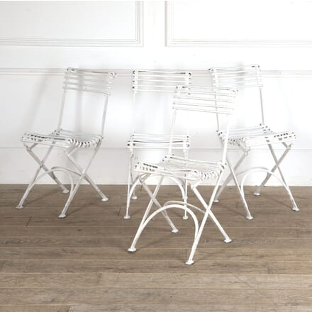 Set of Four Painted Arras Wrought Iron Chairs CH4413356
