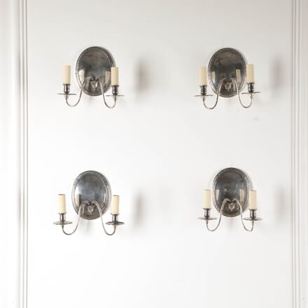Set of Four Silver Plated Wall Sconces LW2112822