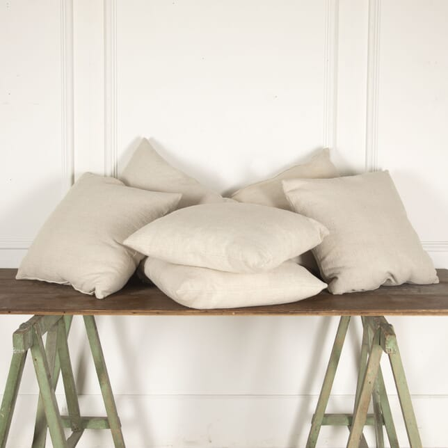 Set of Six 19th Century Antique Linen Cushions RT4412836