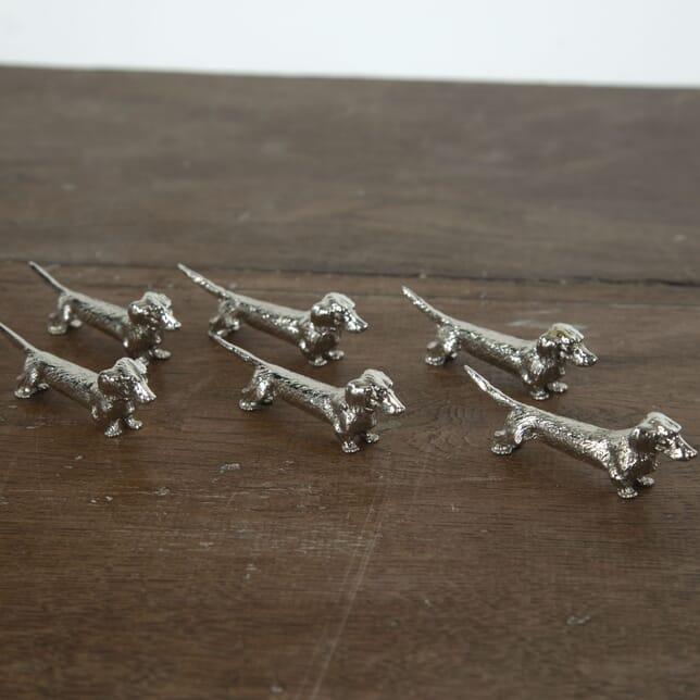 Set of Six Dachshund Knife Rests DA1513009