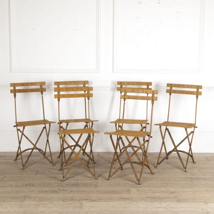 Set of Six French Folding Bistro Chairs CH4413355