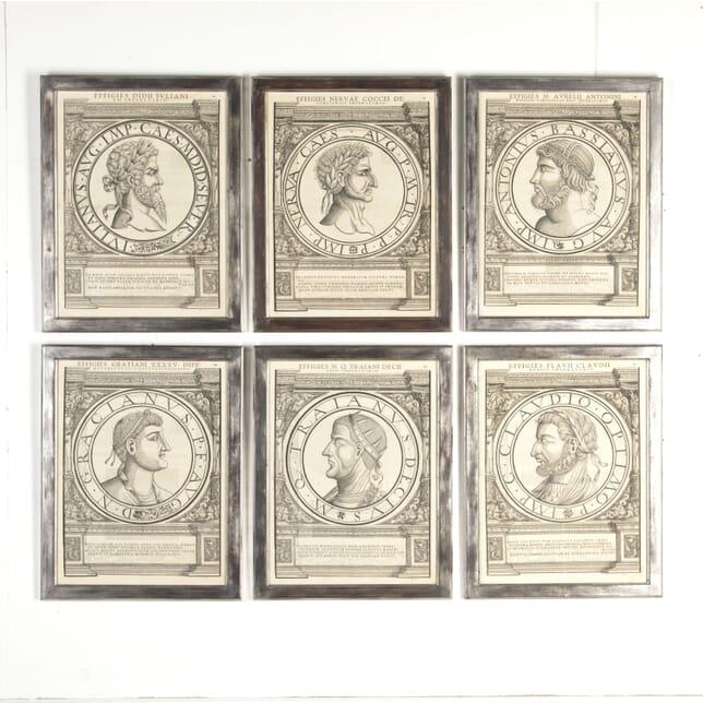 Set of Six Medallion Portraits of Roman Emperors GA7613291
