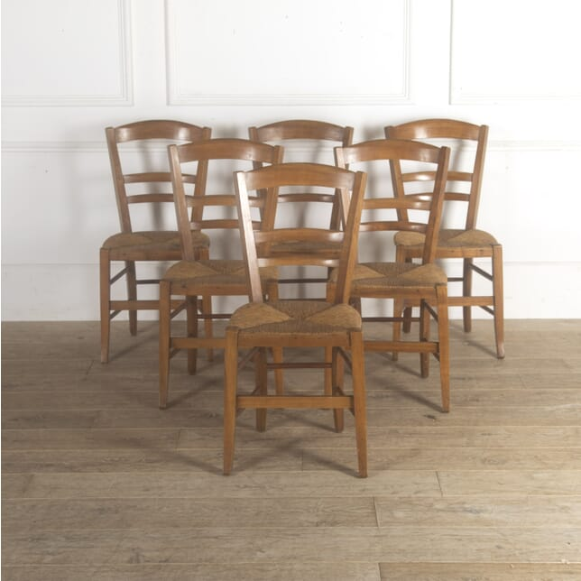 Set of Six Walnut Dining Chairs CD4813148