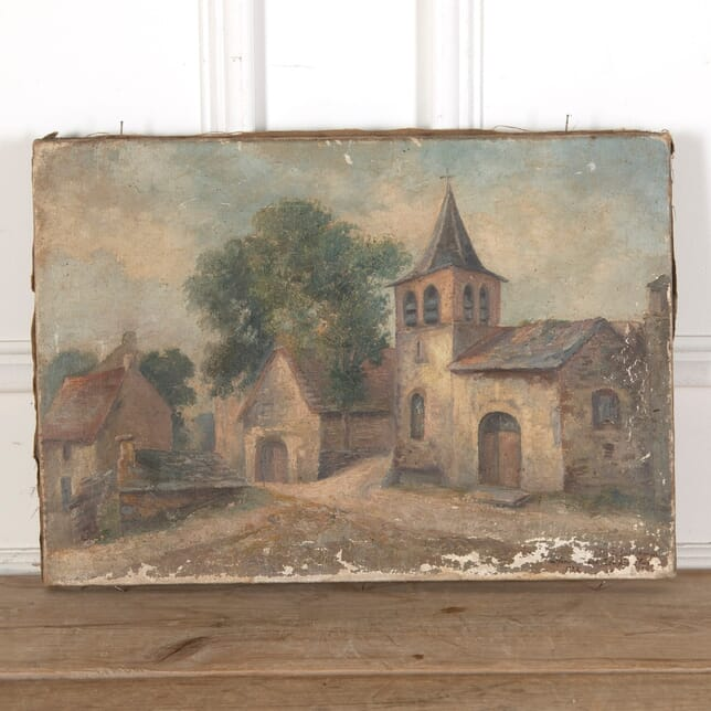 Small Painting of a Southern French Village WD9011662