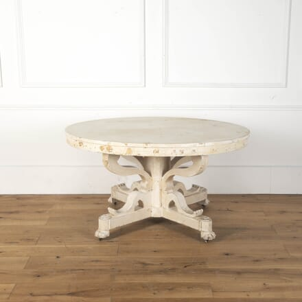 Swedish Painted Oval Centre Table DA3612461