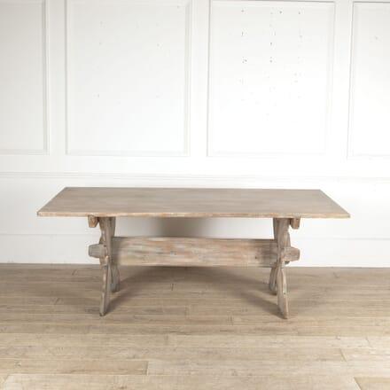 Swedish Pine Dining Table with Lime Wash Finish DA4413364