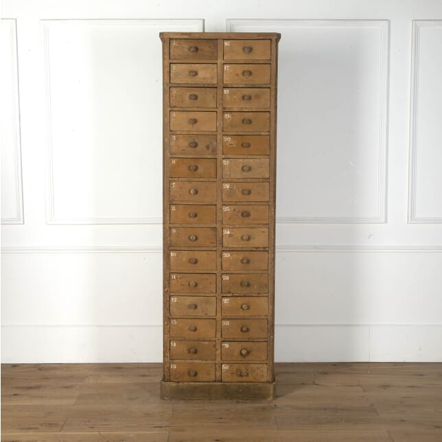 Tall Standing Bank of Thirty Drawers CC3612467