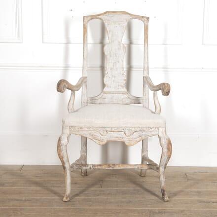 Large Swedish Baroque Armchair CH6015034