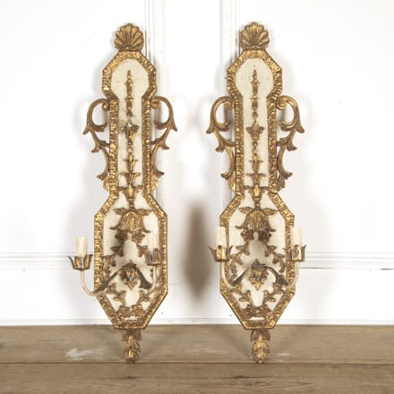 Pair of Elegant French Wall Appliques LW8114393