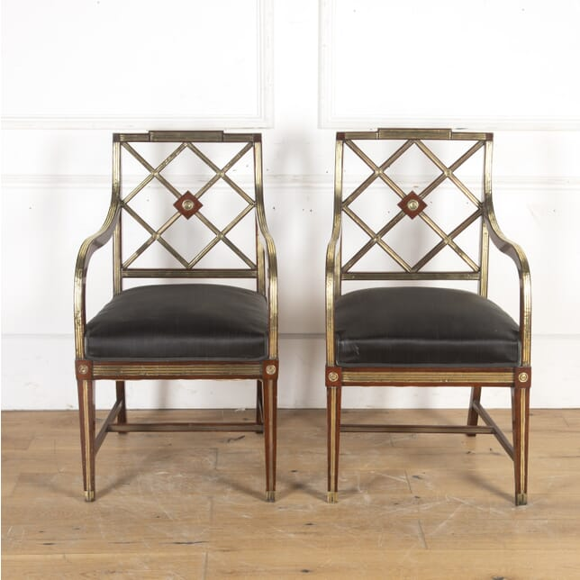 Pair of Jacobean Armchairs with Horse Hair Seats CH8915769