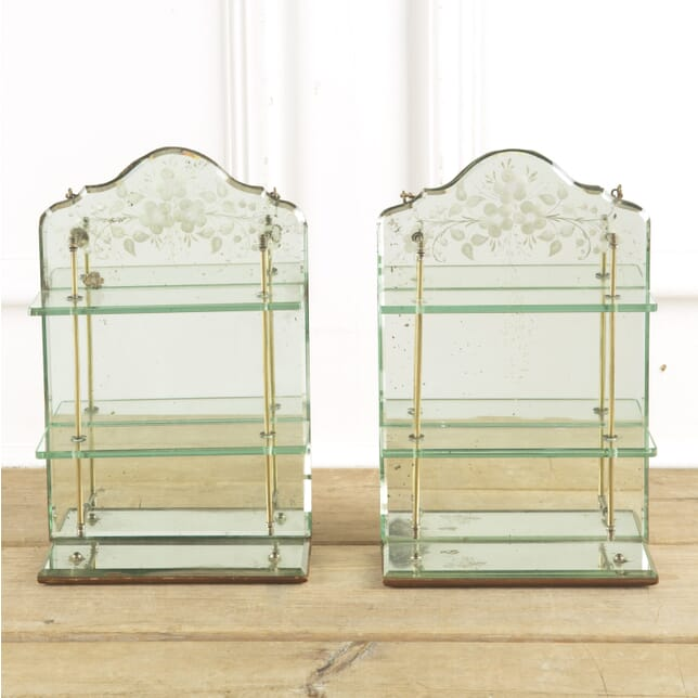 A Pair of Small Victorian Mirrored Shelves BK139998