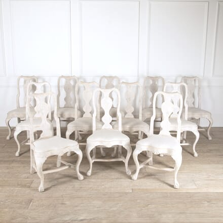 Set of 12 Swedish Rococo Style Dining Chairs CD9214139
