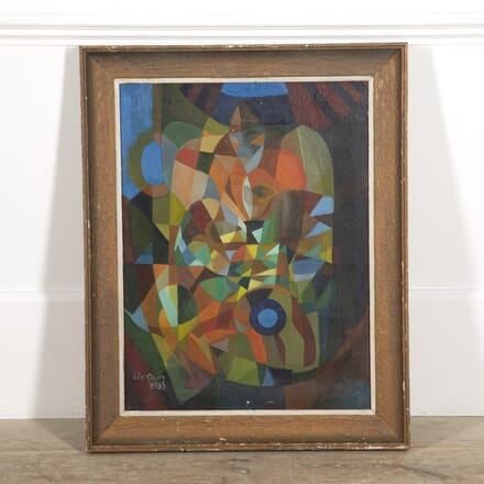 Abstract Oil on Canvas by Jacques Cinquin WD3014776