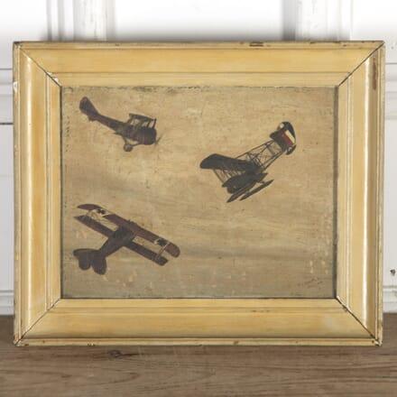 1919 Oil Painting of WW1 Bi-Planes DA9014376