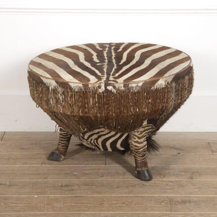 African Zebra Hide Drum Table TC7816724