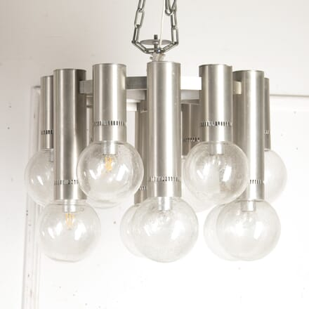Italian Aluminium and Murano Glass Chandelier LC8715828