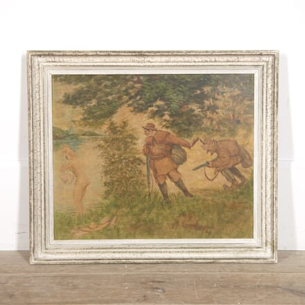 Amusing French Oil Painting by Le Beuze WD1515292