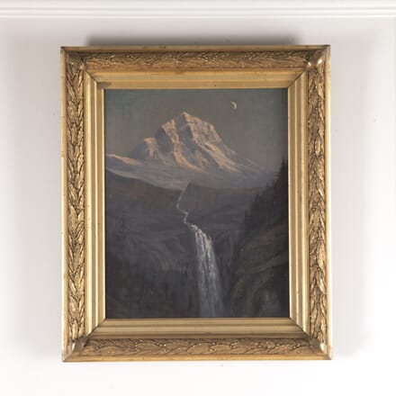 Oil on Canvas of Mountain Scene WD4814594