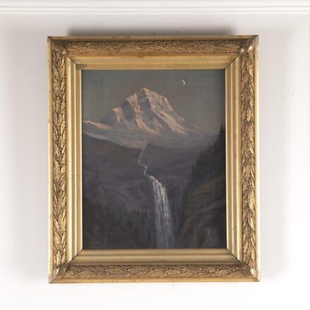 Oil on Canvas of Mountain Scene WD4814594
