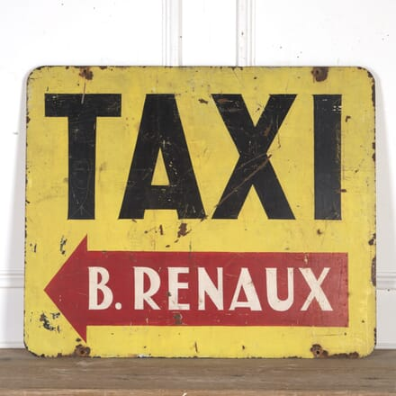 French Painted Metal Taxi Advertising Sign DA8015107