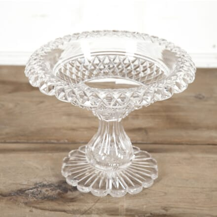 Anglo-Irish Cut Crystal Tazza Serving Dish DA5815454