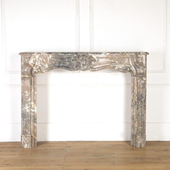 French Louis XV Marble Fireplace GA8614445