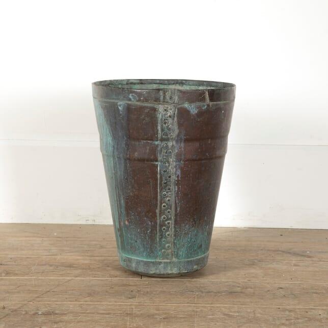 Antique Riveted Copper Vasque DA1511536